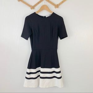 Necessary Objects Stripe Fit & Flare Dress